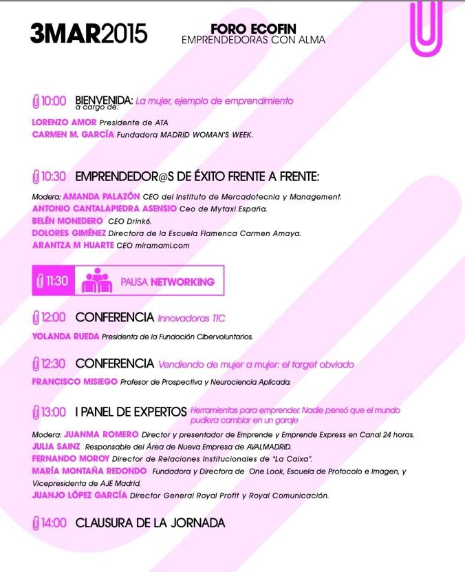 Emprendedoras con alma Madrid Womans Week 2015